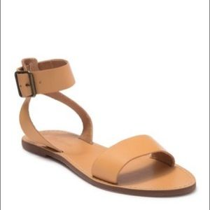 Madewell The Boardwalk Leather Ankle Strap Sandal